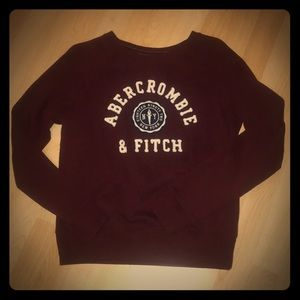 Abercrombie & Fitch Embroidered Logo Sweatshirt